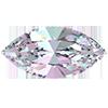 Лодочки в цапах Preciosa (Чехия) 10x5 мм Crystal Vitrail Light/серебро
