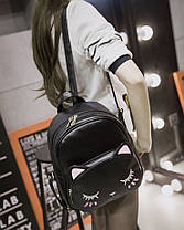 Женский городской рюкзак с лицом котика , фото 2