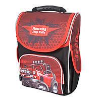 Школьный рюкзак с ортопедической спинкой для мальчика - Jeep Rally - 87-1472