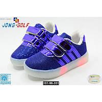Светящиеся LED кроссовки для девочки и мальчика, 28-29 размер, с мигалками, кожаная стелька, супинатор