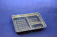 Соусничка на 3 деления для суши, ПС 66,120х90х25 мм (800 шт)