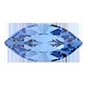 Лодочки в цапах Preciosa (Чехия) Sapphire/серебро