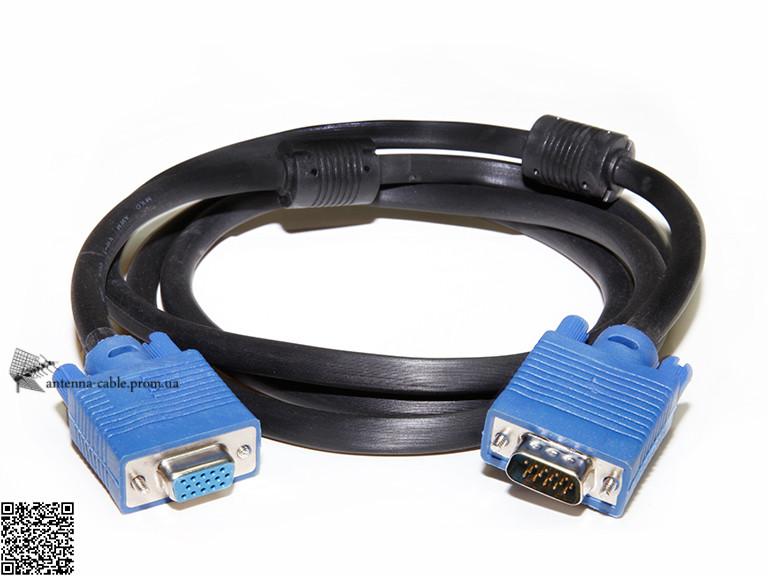 Шнур комп. шт VGA - гн VGA с фильтрами 1.8m