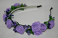 Веночек для волос фиолетовый