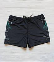 Практичные мужские плавки на море и на пляж 48, черный/бирюзовый