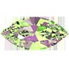 Лодочки в цапах Preciosa (Чехия) 15x7 мм Crystal Vitrail Medium/серебро