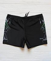 Практичные мужские плавки на море и на пляж 48, черный/зеленый