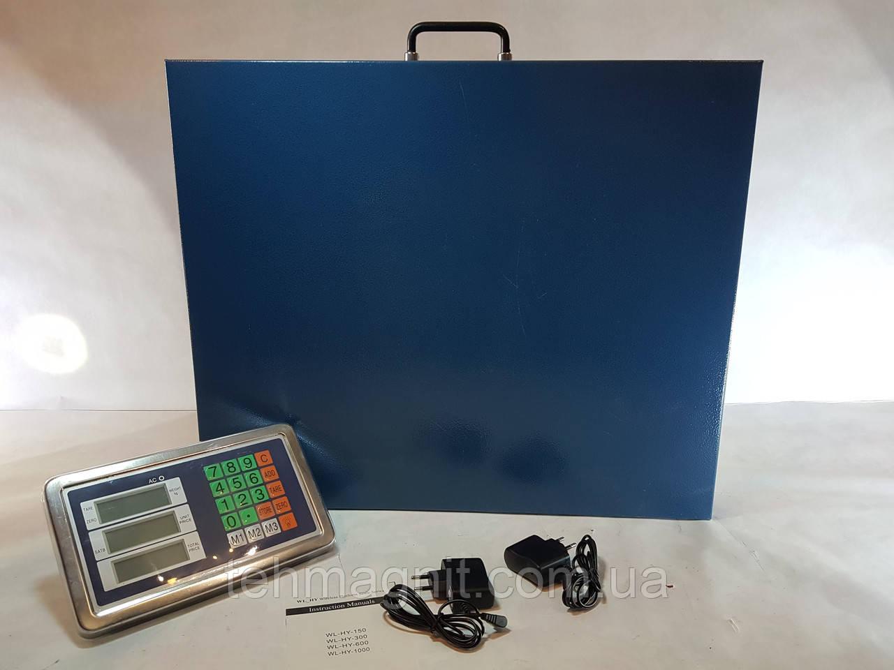 Весы товарные беспроводные с Bluetooth до 500 кг - 50x60