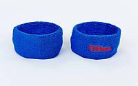 Повязка на голову (1шт) WILSON (х-б, PL, эластан, безразмерный, цвета в ассортименте) Синий