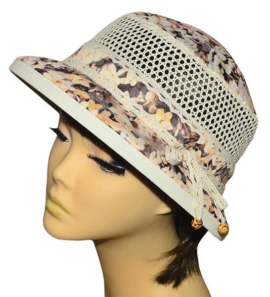 Шляпа Парижанка х/б матиола беж