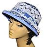 Шляпа женская Парижанка х/б джинс в цветах