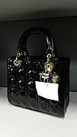 Сумка женская Dior диор лак черная