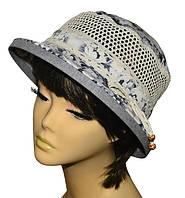 Шляпа женская Парижанка х/б матиола серая, фото 1