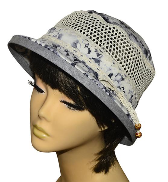 Шляпа Парижанка х/б матиола серая