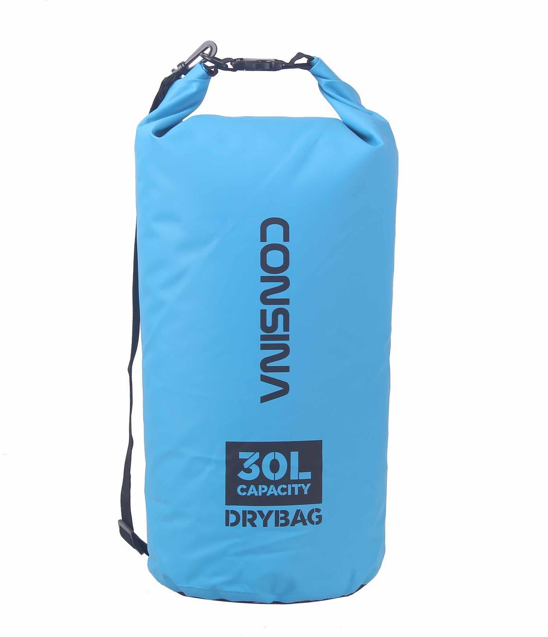 Сумка водонепроницаемая Consina голубая 30L