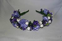 Веночек для волос фиолетовый+белый