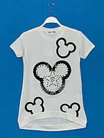 Футболки для девочек 10 лет белые, Летние футболки для девочек в розницу