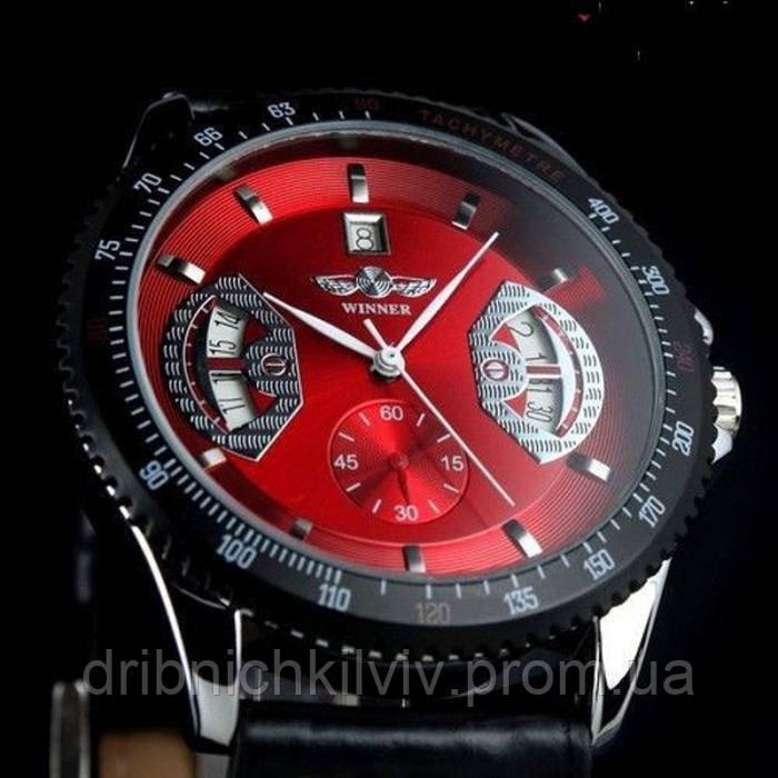 Мужские часы Winner красный (Код 05)
