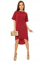 Свободное платье-шлейф р. S;М; марсала
