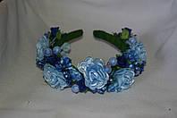 Веночек для волос Цветы голубой