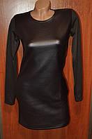 Стильное платье эко-кожа 44-50р