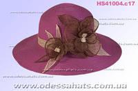 Шикарная фиолетовая женская шляпа для лета