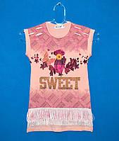 Детские футболки для девочек 5-8 лет, Красивые футболки для девочек