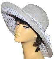 Шляпа женская Поляна темный лен + горох