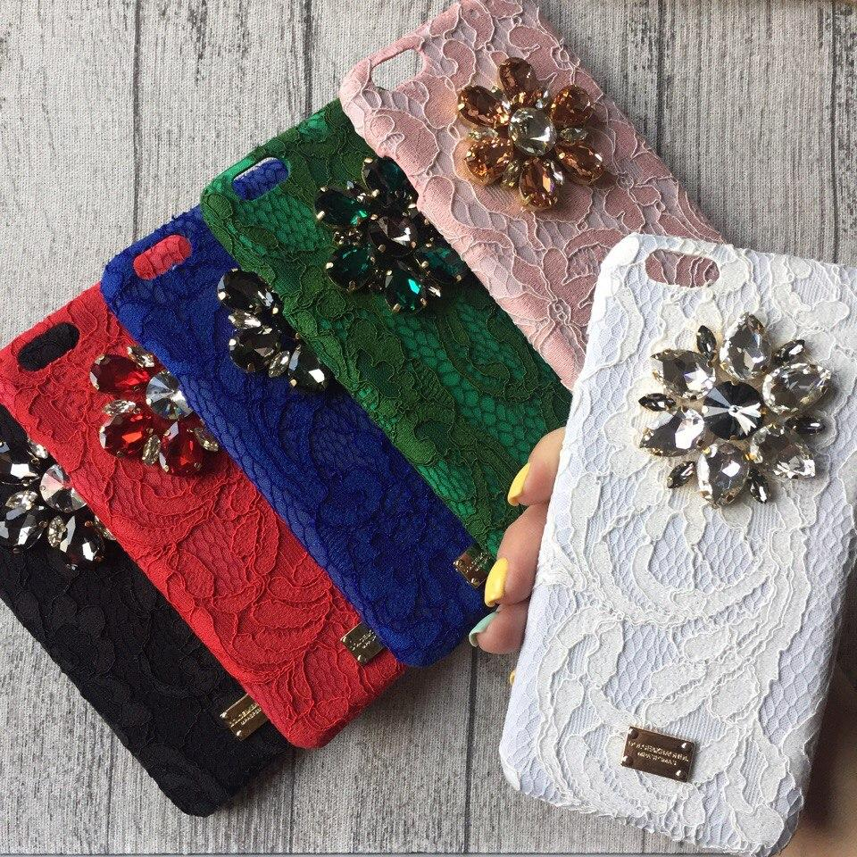 Чехол с камнями Dolce & Gabbana для iPhone 6 Plus/6s Plus