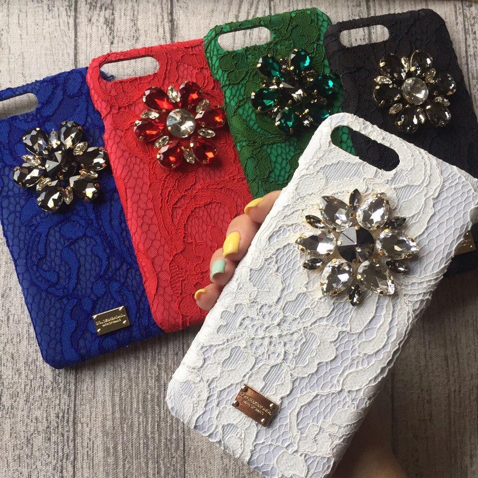 Чехол с камнями Dolce & Gabbana для iPhone 8/ 8 Plus