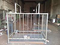 Весы для взвешивания животных VTP-G-1220-300  1250х2000мм с оградкой 1500 мм на 300 кг.