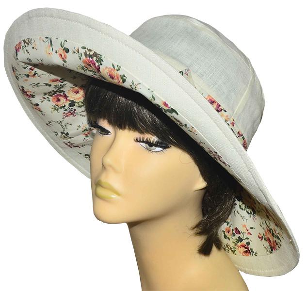 Шляпа женская с широкими полями Поляна молоко+прованс беж