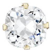 Квадраты в цапах Preciosa (Чехия) 18х18 мм Crystal/золото