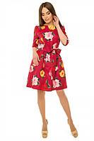 Платье с подъюбником из фатина р. S;М марсала