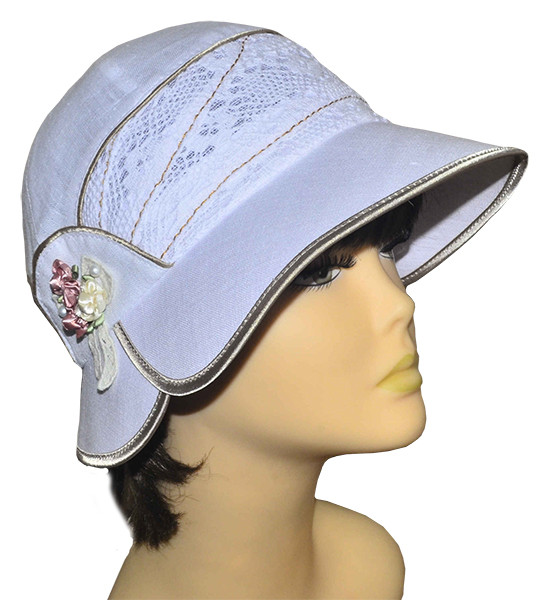 Шляпа женская Эстер лен белая