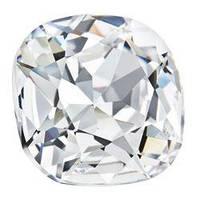 Квадраты в цапах Preciosa (Чехия) 18х18 мм Crystal/серебро