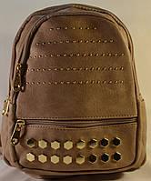 Женский городской бежевый рюкзак из кожзама SM 2939