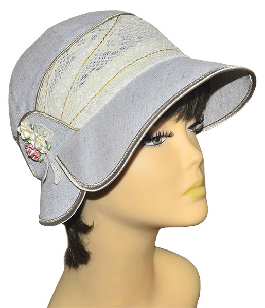 Шляпа женская Эстер лен темный