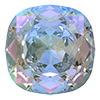 Квадраты в цапах Preciosa (Чехия) 18х18 мм Crystal AB/серебро