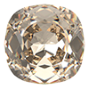 Квадраты в цапах Preciosa (Чехия) 18х18 мм Crystal Honey/серебро