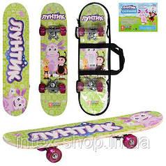 Дитячий скейт LT 0028 Лунтік (60х15см)