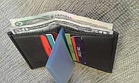 Кожана визитница коричневая для карточек и денег.(Турция)