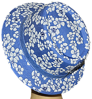 Шляпа женская Блюз шитье джинс в цветах