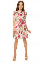 Платье с подъюбником из фатина р. S пудра роза