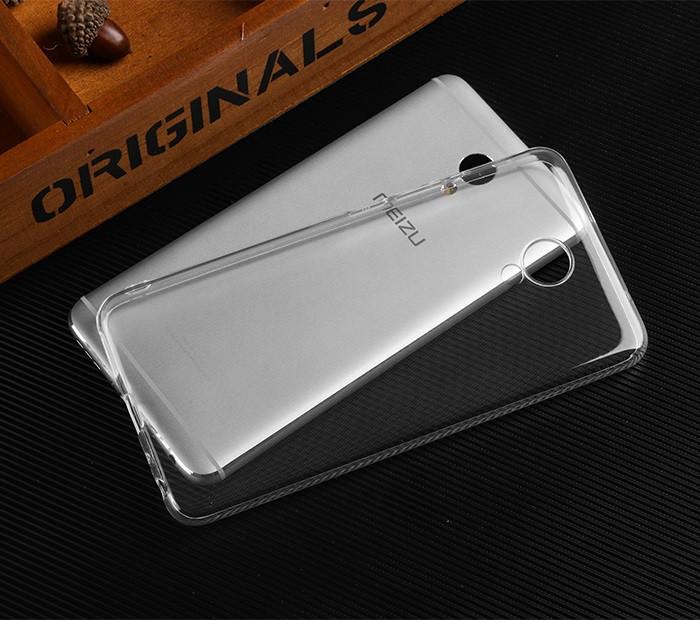 Чехол для Meizu M5 Note прозрачный, бампер, накладка, чохол, силиконовый, силіконовий
