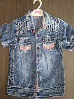Джинсовая тениска для мальчика 5-8 лет