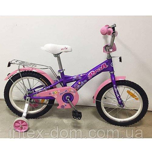 """Детский двухколесный велосипед Profi Original girl 16"""" (G1663) с багажником"""