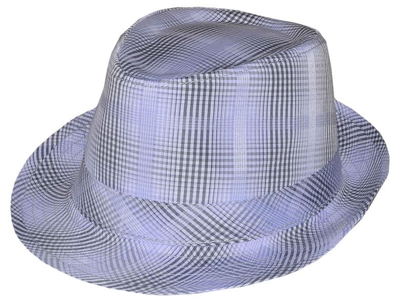 Шляпа Бруно серая клетка