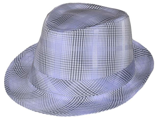 Мужская шляпа Бруно серая клетка
