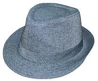 Шляпа Бруно серый однотон
